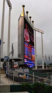 Kauffman Stadium Scoreboard from LF - Kansas City