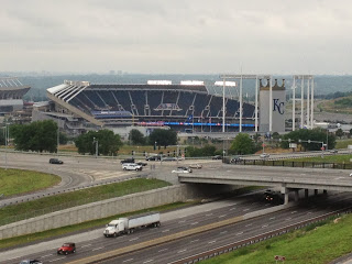 Kauffman Stadium from Hotel Window - Kansas City