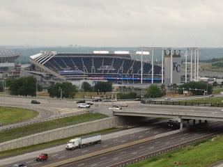 Kauffman Stadium from Hotel Window - Kansas City